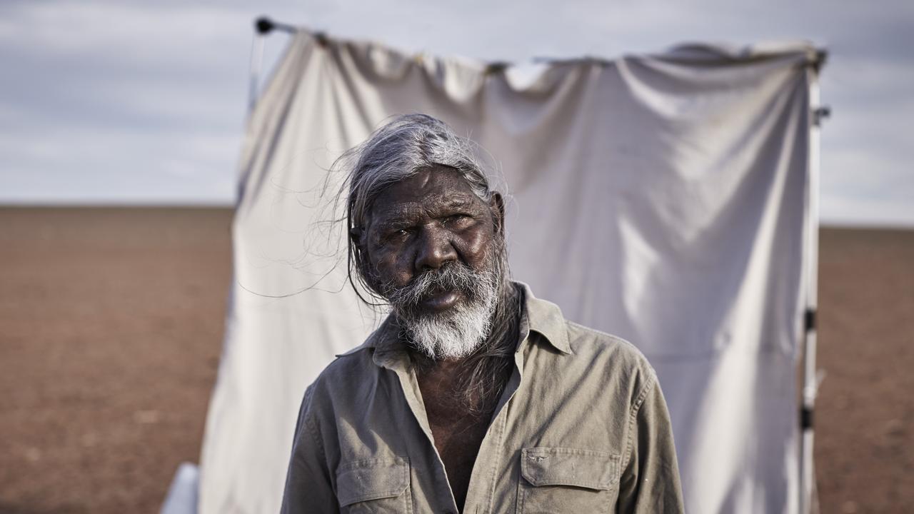Indigenous actor David Gulpilil at his home in Murray Bridge. Picture: Richard Freeman