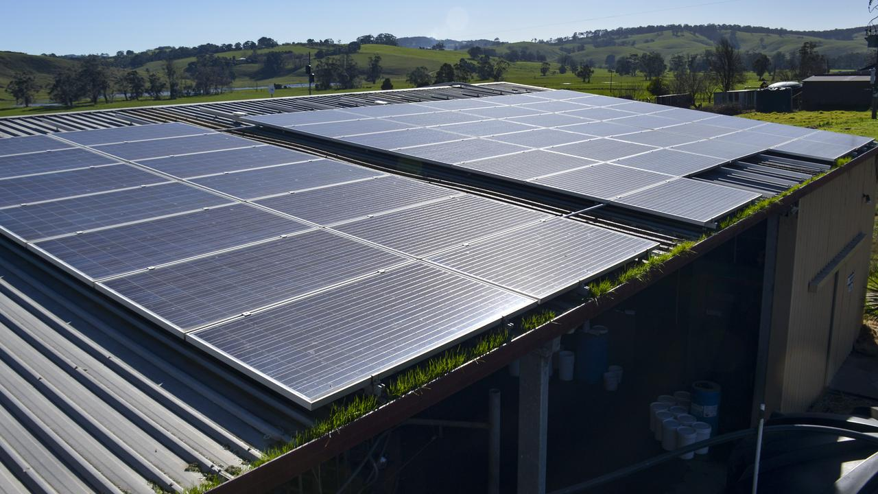 Installing solar panels is not enough to address climate change. Picture: Dannika Bonser