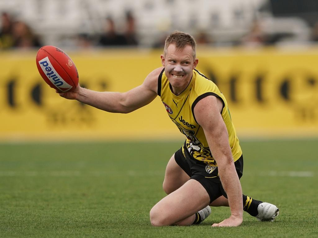 Jack Riewoldt hasn't been near his best throughout the finals.