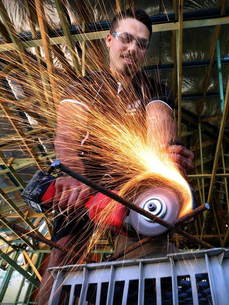 Apprentice Bradley Weyman. Picture: Jamie Hanson