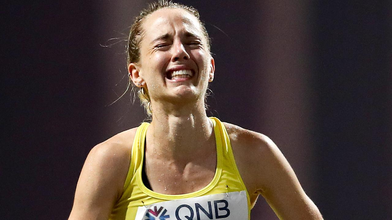 Aussie runner Rochelle Rodgers suffered in the conditions.
