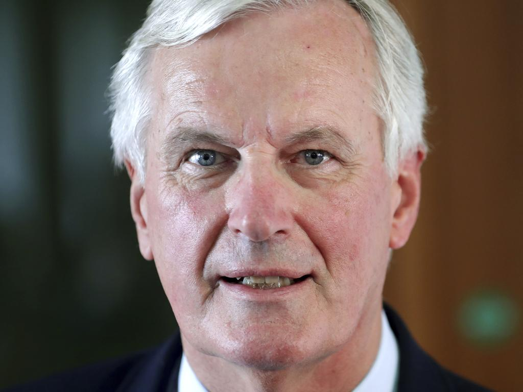 EU brexit Chief Negotiator Michel Barnier. Picture: AP