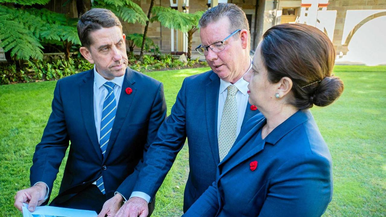PROJECT SUPPORT: Minister Cameron Dick (left), Rockhampton MP Barry O'Rourke and Premier Annastacia Palaszczuk want to see the South Rockhampton Flood Levee built.