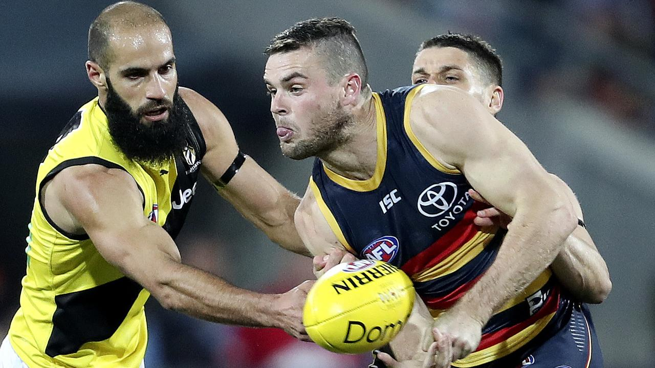 Richmond was wobbling when it lost its third game in a row to Adelaide in Round 13. Picture: Sarah Reed.