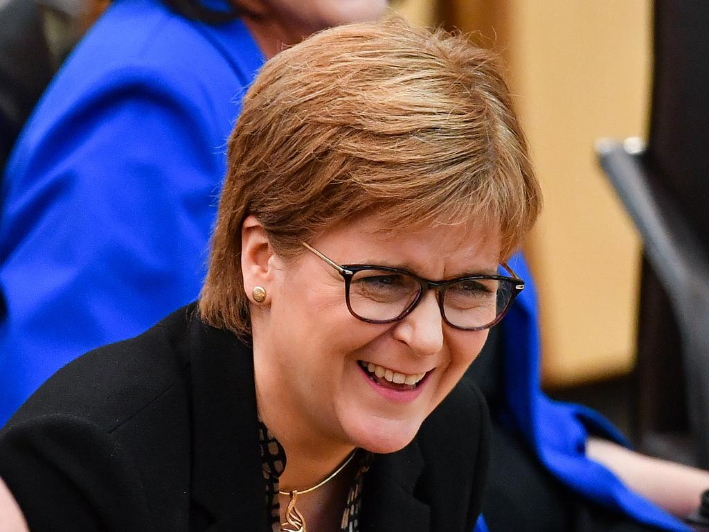 No laughing matter … First Minister of Scotland Nicola Sturgeon doesn't think it's a good idea to leave Boris Johnson in the top job. Picture: Getty
