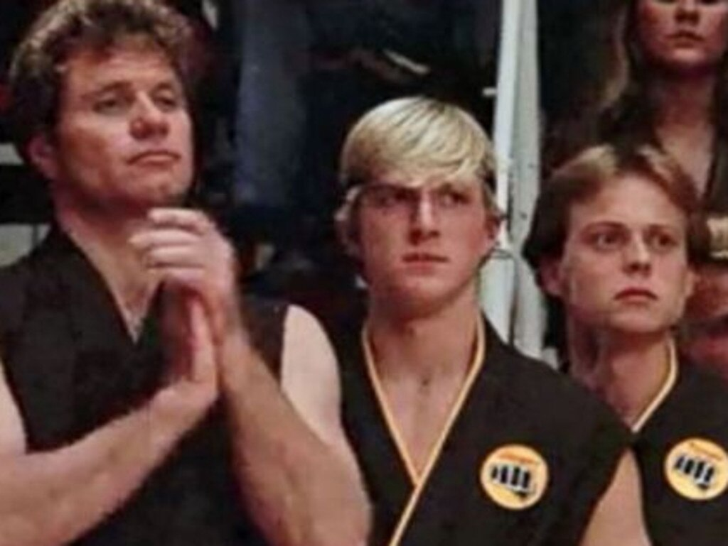 Robert Garrison (right) played Tommy in The Karate Kid. Picture: Columbia Pictures