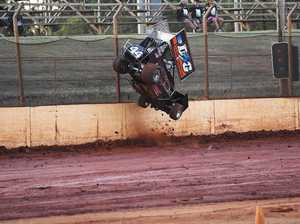 PHOTOS: Moment speedway vehicle goes airborne
