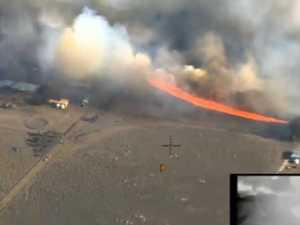 WATCH: Heartbreaking moment raging fire approached farm