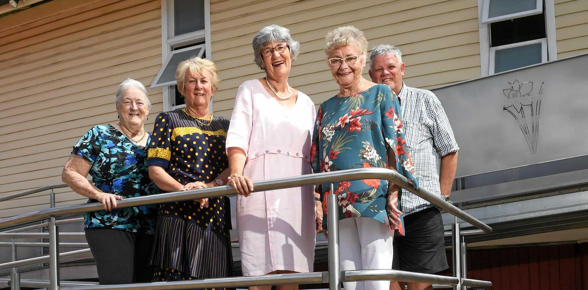 CONGREGATION: St David's Society secretary Annette Spilsbury, president Yvonne Daly, Church Management Committee chairman Eirys Jones, St David's Society committee member Olwen Arbuthnot and Church Management Committee secretary Errol George.