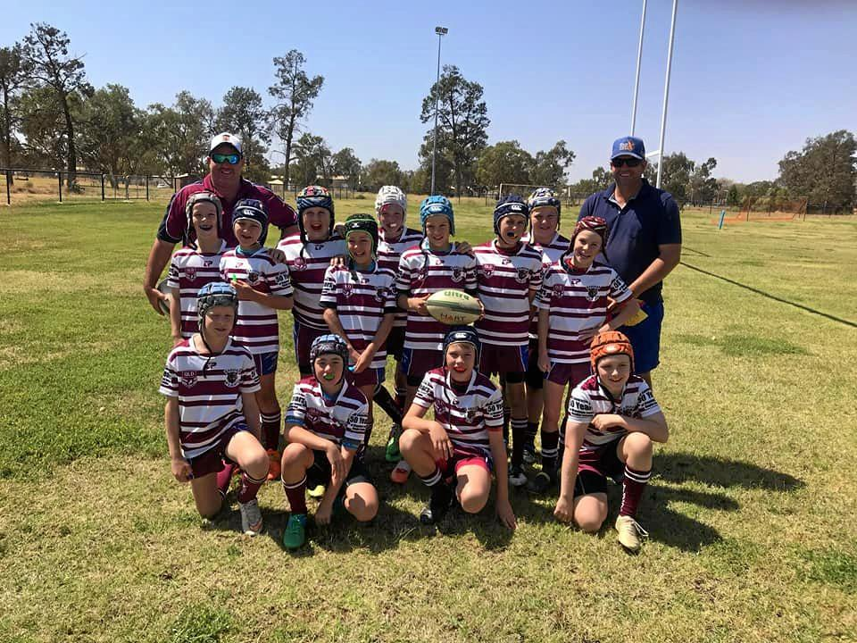 MULGA CUP TEAM: The Wandoan Wildcats team at the U11 Mulga Cup over the weekend.