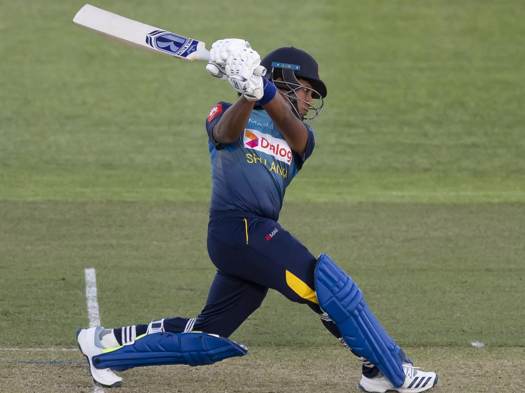 Sri Lanka's Chamari Athapaththu smacked 113 from 66 balls in a knock that included six sixes. Picture: AAP