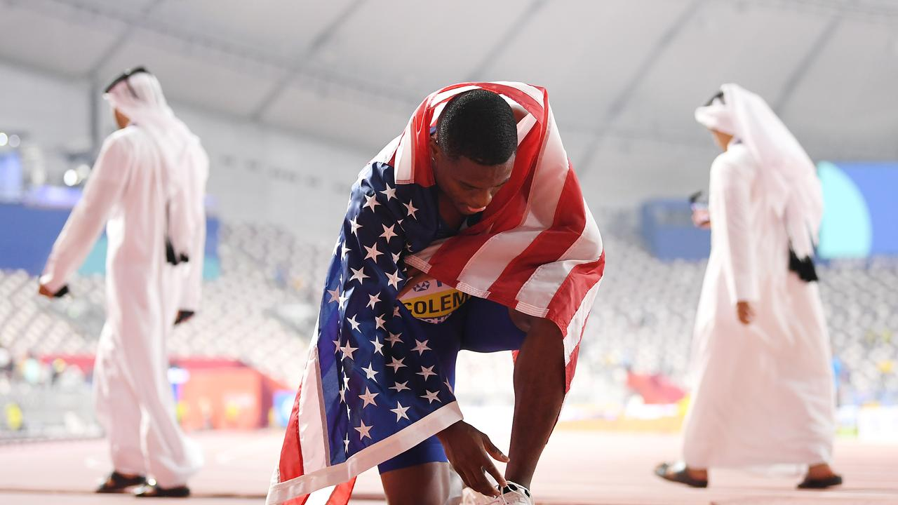 Christian Coleman missed three drug tests in a 12-month period. Picture: Matthias Hangst/Getty Images