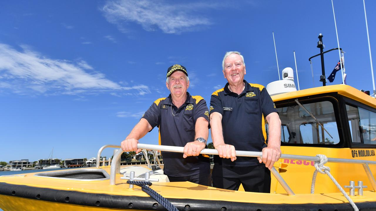 Coastguard crew member Duncan Slaven and Michael Cass (Radio Operator) were the first responders when 3 people were rescued after a boat sank off the coast of Caloundra last June. Photo: John McCutcheon / Sunshine Coast Daily