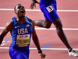 Watch: Controversial young gun takes Bolt's crown