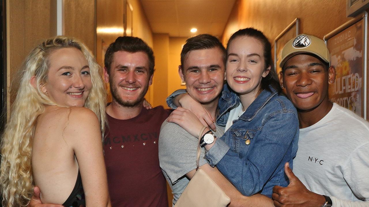 Anna Green, Jimmy Smith, Jesse Burkharx, Rosheen Weir and Kosia Williams at Zodiac Nightclub.