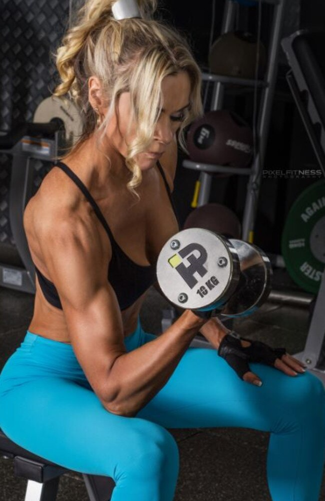 She had been addicted to cardio exercise for years in an attempt to stay slim, but when an injury forced her to change her workouts, she found a new purpose in weightlifting. Picture: Jane Curnow