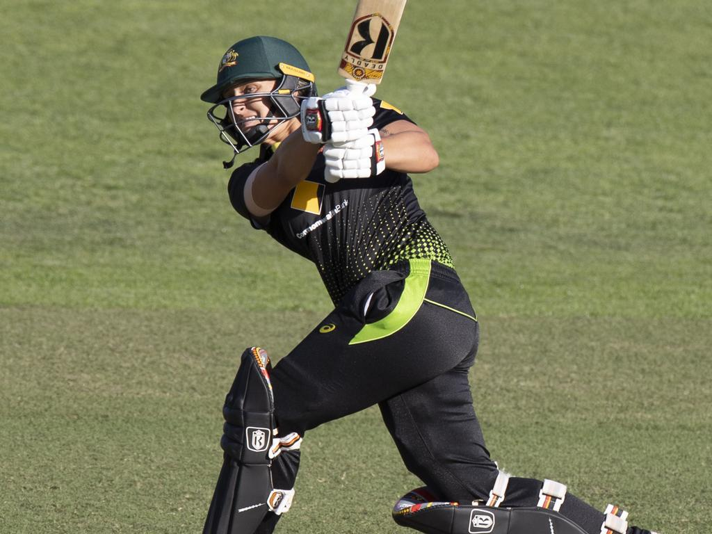Ashleigh Gardner scored a handy 49 for Australia. Picture: AAP