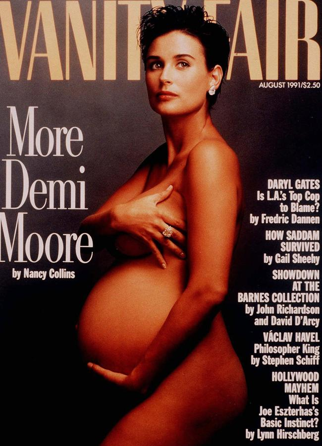 Demi's groundbreaking 1991 Vanity Fair cover. Picture: AP