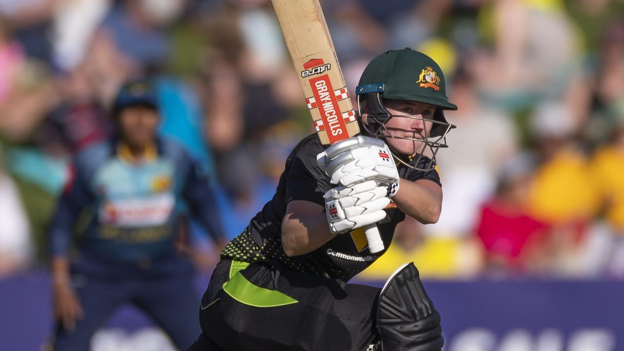 Beth Mooney laid the platform for Austrlaia with a big century. Picture: AAP