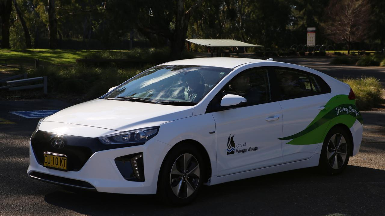 Wagga Wagga City Council's electric car. Credit: Wagga Wagga City Council