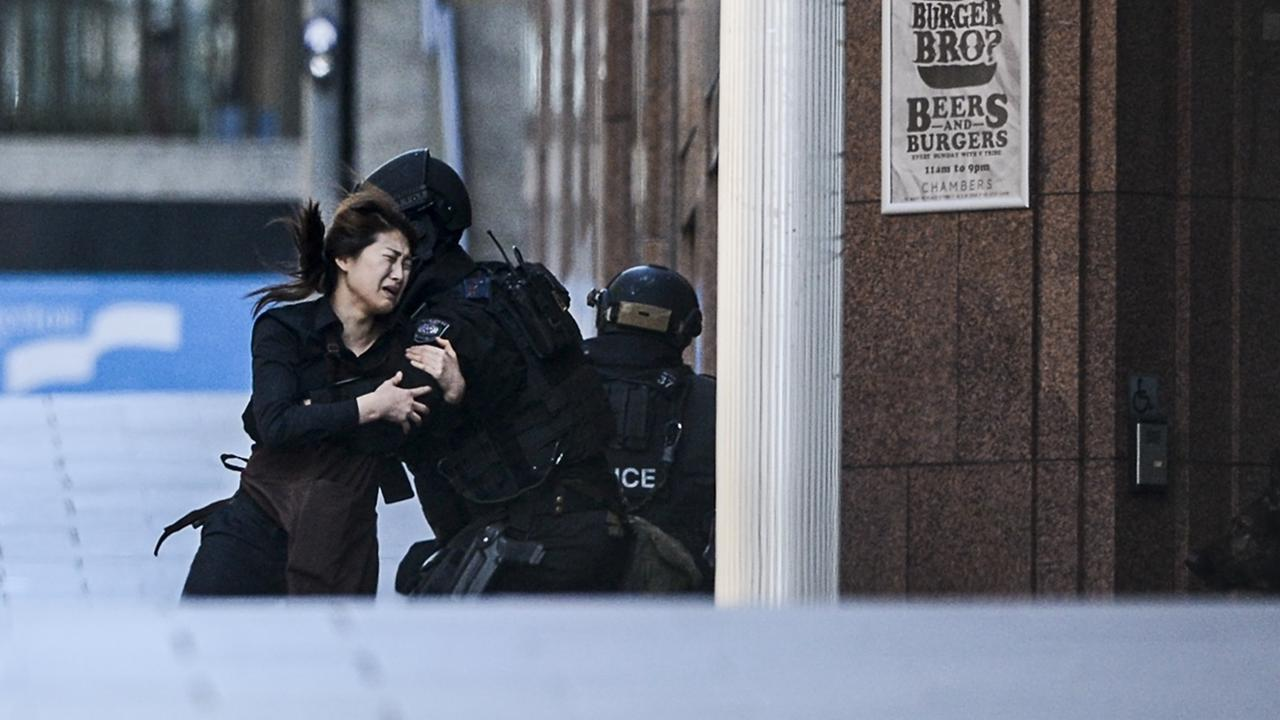 Many hostages managed to escape the cafe. Picture: Chris McKeen