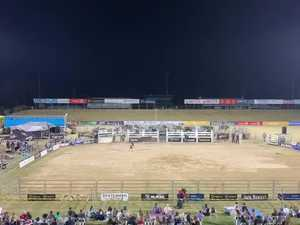 Clermont bull rider Aaron Kleier at the Mackay PBR invitational