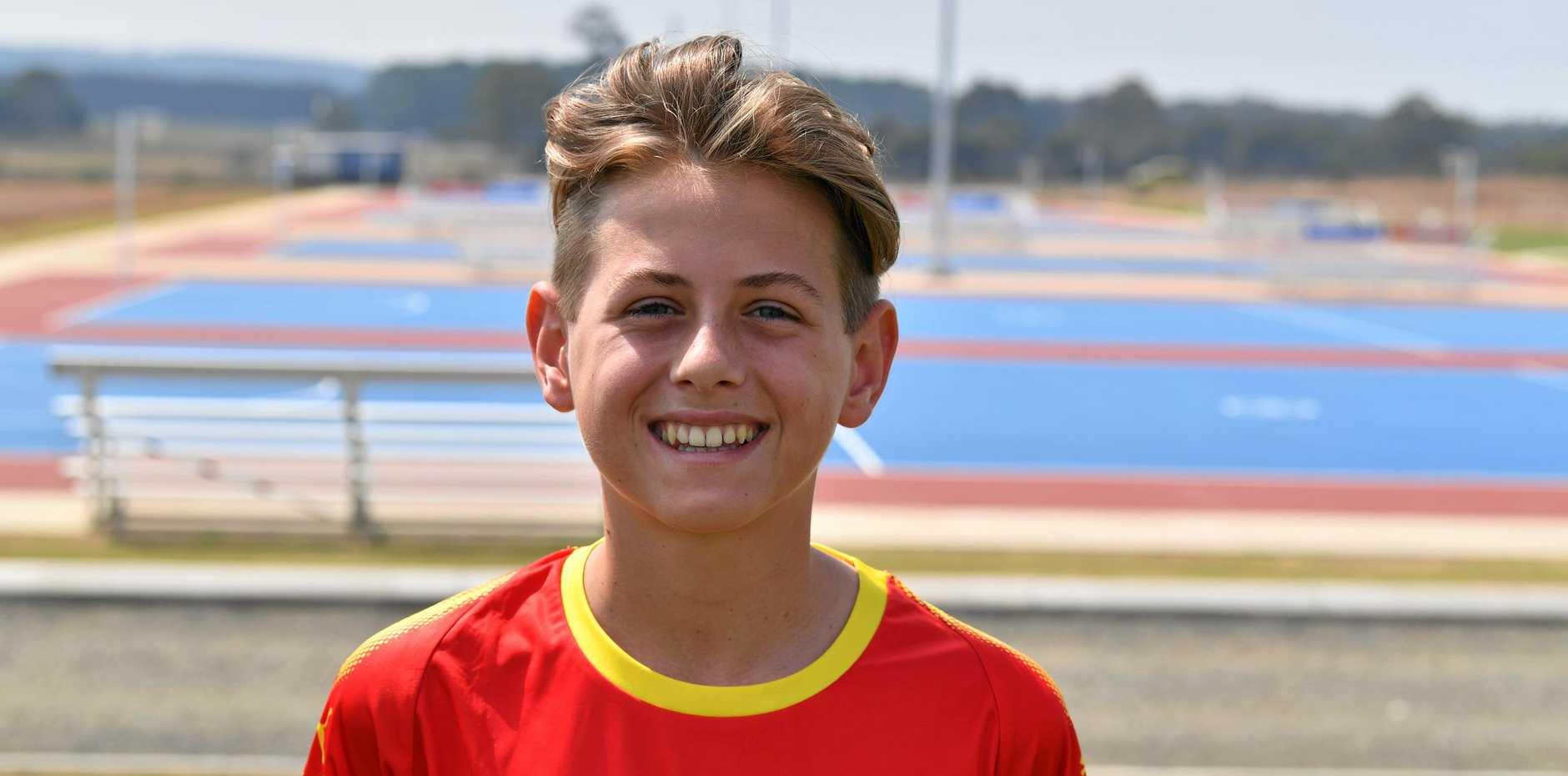 Zac Turner - Belgium under 14's.