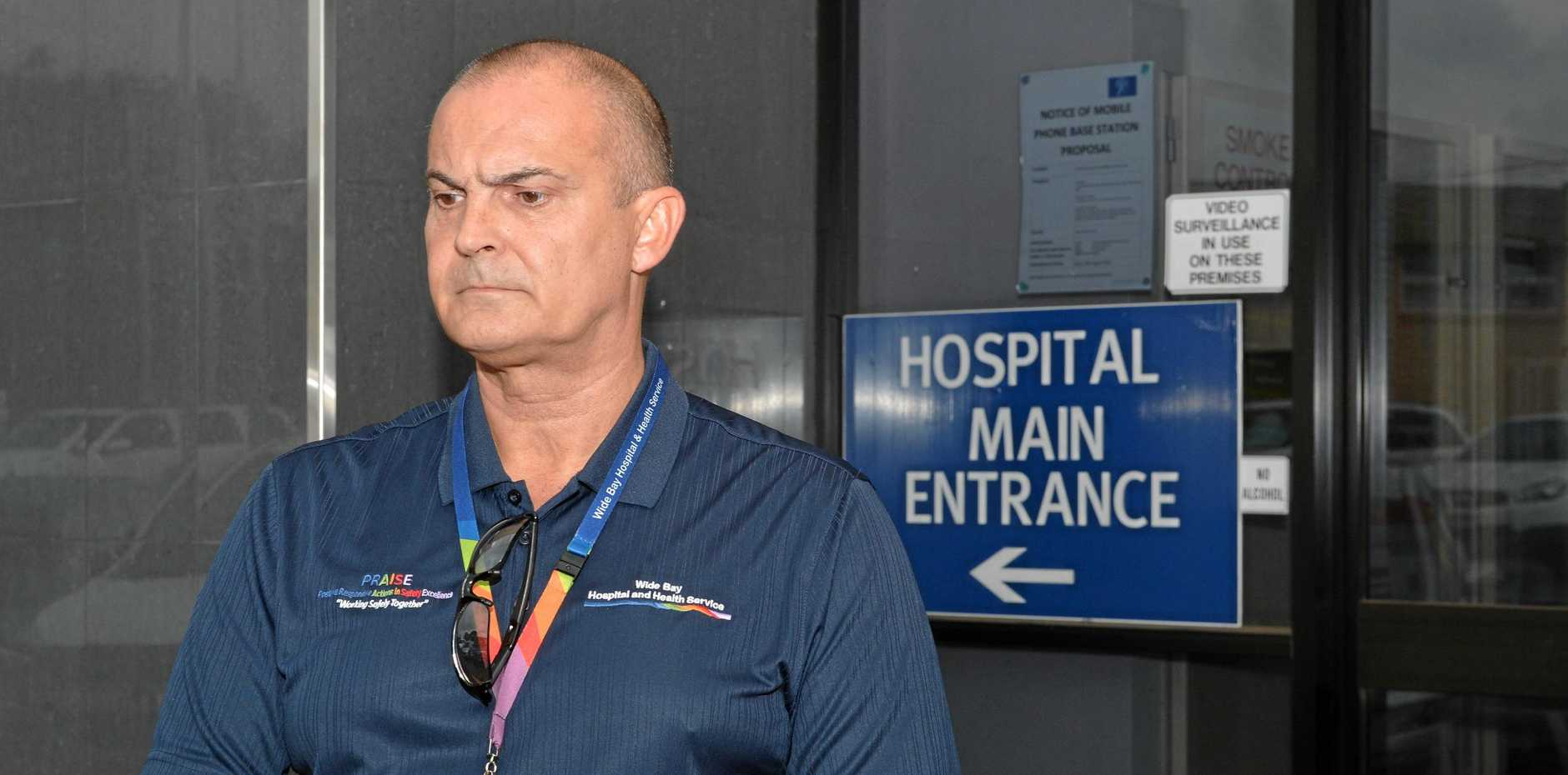 SACKED: The former chief executive of Wide Bay Hospital and Health Service Adrian Pennington.