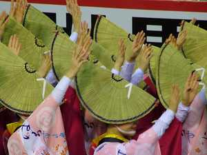 A fan of Japan's colourful and noisy festivals