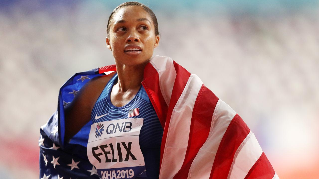 Allyson Felix gave the World Championships its 'hero' moment. Picture: Getty Images
