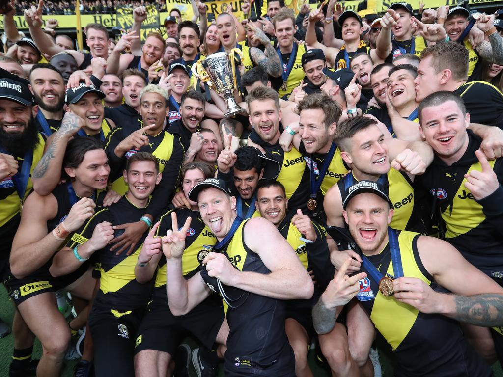 The premiership photo among the fans. Picture: Alex Coppel