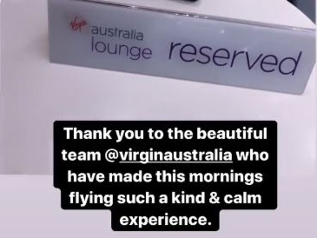 Jess posted about her Virgin Australia flight experience on Instagram.
