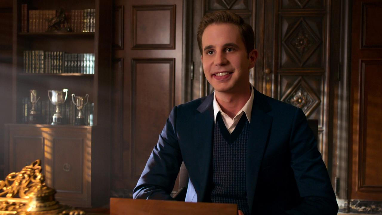 Platt already played a college student in the Pitch Perfect movies — now he's back at high school. Picture: Netflix