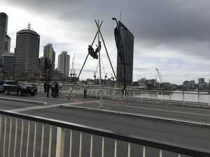 Traffic drama as protest blocks CBD bridge