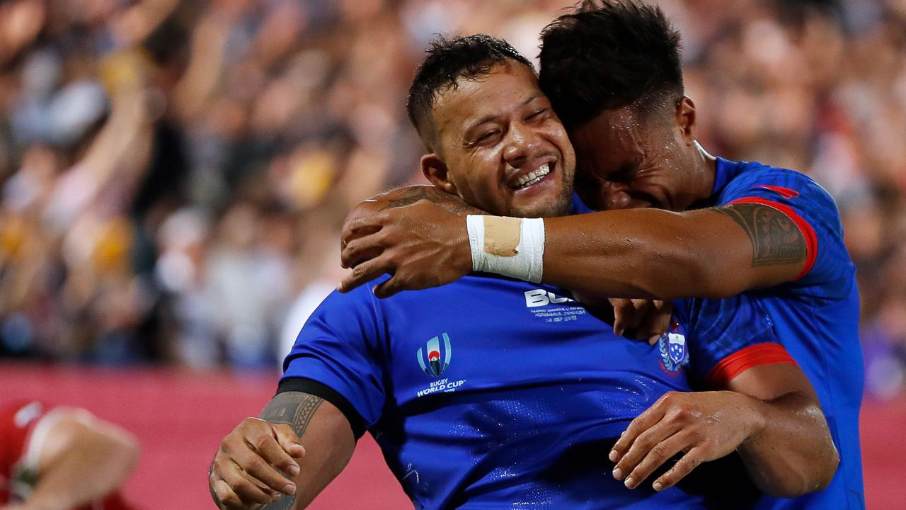 Samoa is ready for its battle with Scotland. Picture: AFP Photo