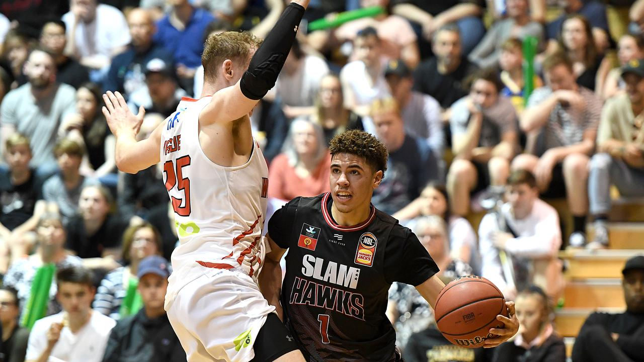 NBA Draft hopeful LaMelo Ball is playing in the NBL. Picture: Steve Bell