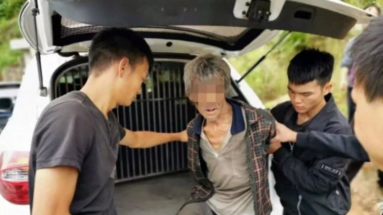 Song Jiang has been arrested after 17 years on the run from police. Picture: WeChat/Yongshan Police.