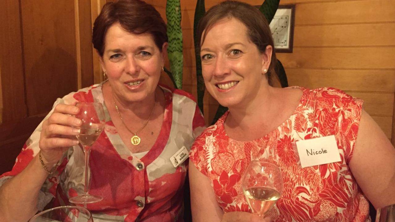 Gail Robinson with Nicole Leddicoat.