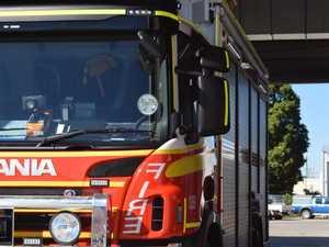 Caravan fire in Walkerston