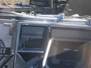 Camper trailer crash blocks highway traffic