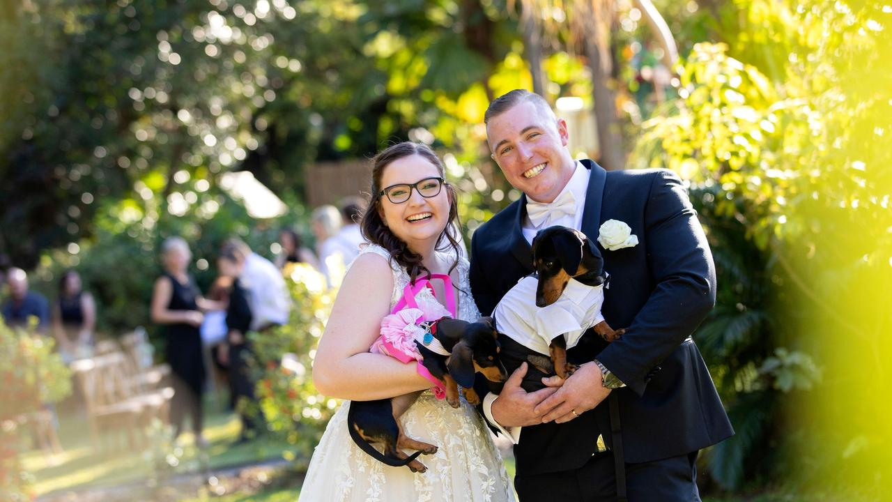 Jaz McNally has tied the knot with Jamie Hodgson at Beerwah.
