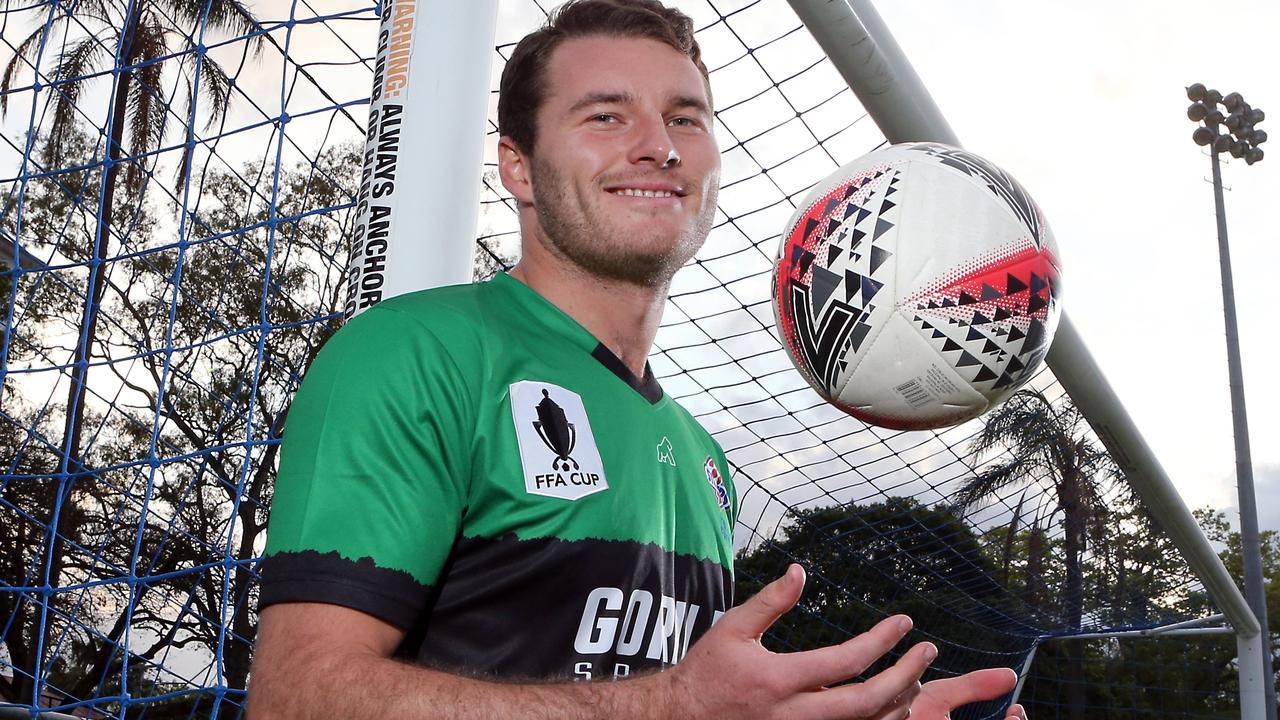 Brisbane Strikers goalkeeper Bon Scott. Picture: AAP