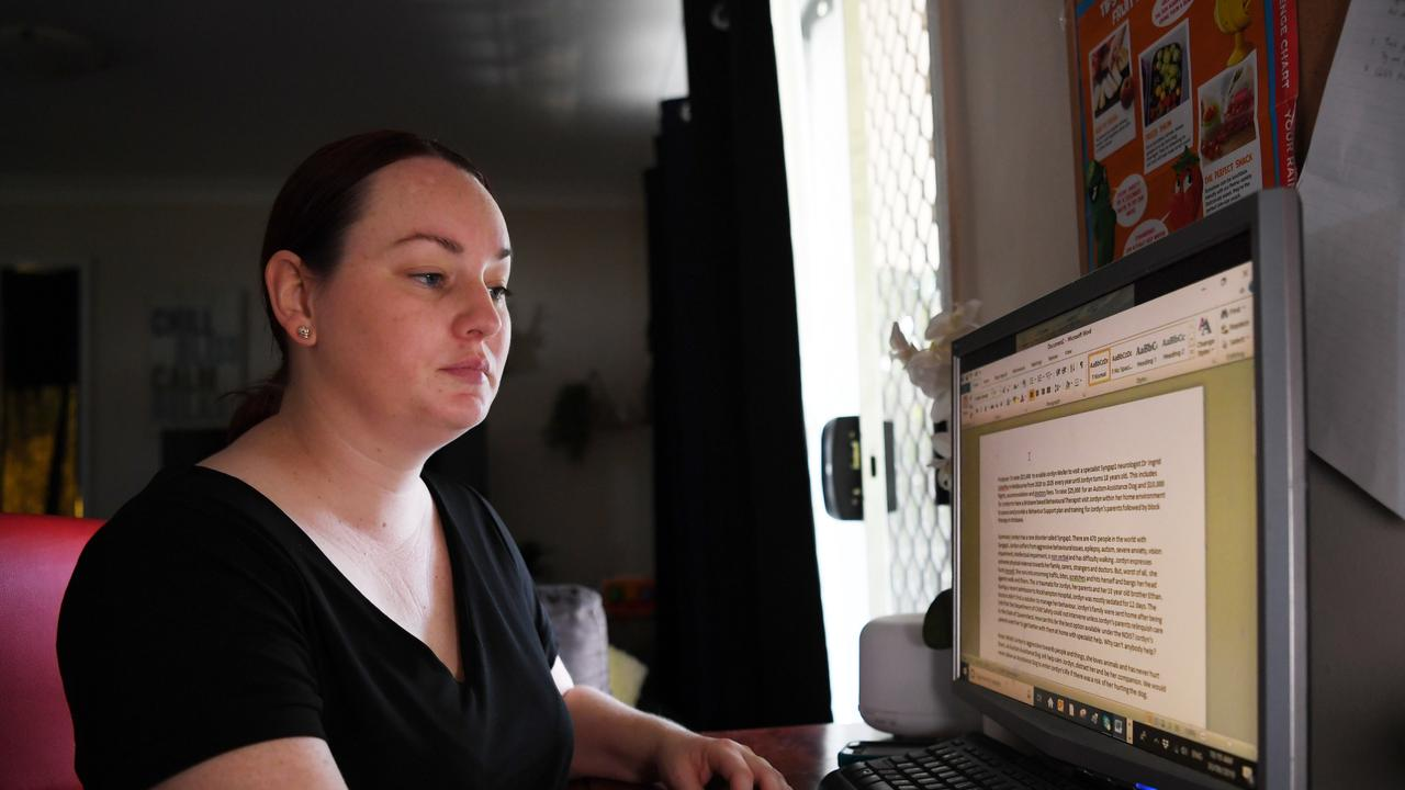 NO SUPPORT: Rockhampton mum Rebecca Weller feels like she's failing her daughter because they can't access services.