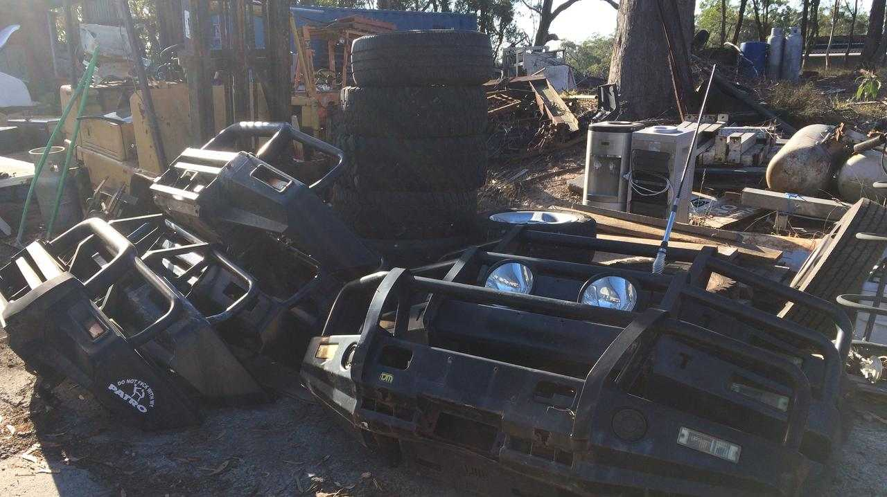Cleveland police found more than 80 stolen vehicles and parts at a property in Redlands last week.