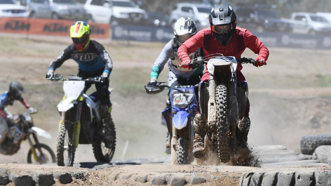 Aaron Hutton came first in the expert class in his first outing at the Yeppoon Enduro-X on Saturday.