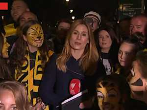 TV reporter's AFL grand final 'grope'