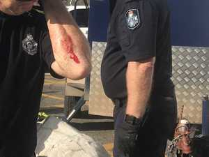 Police officer injured in anti-Adani stunt