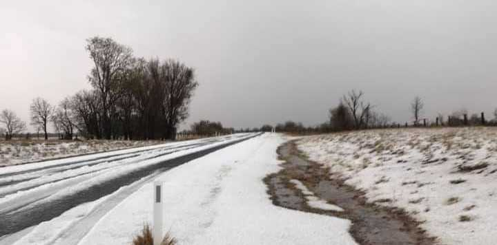 HEAVENS OPENED: This image was taken 5 kilometres south of Condamine where they've had 60mm and hail.