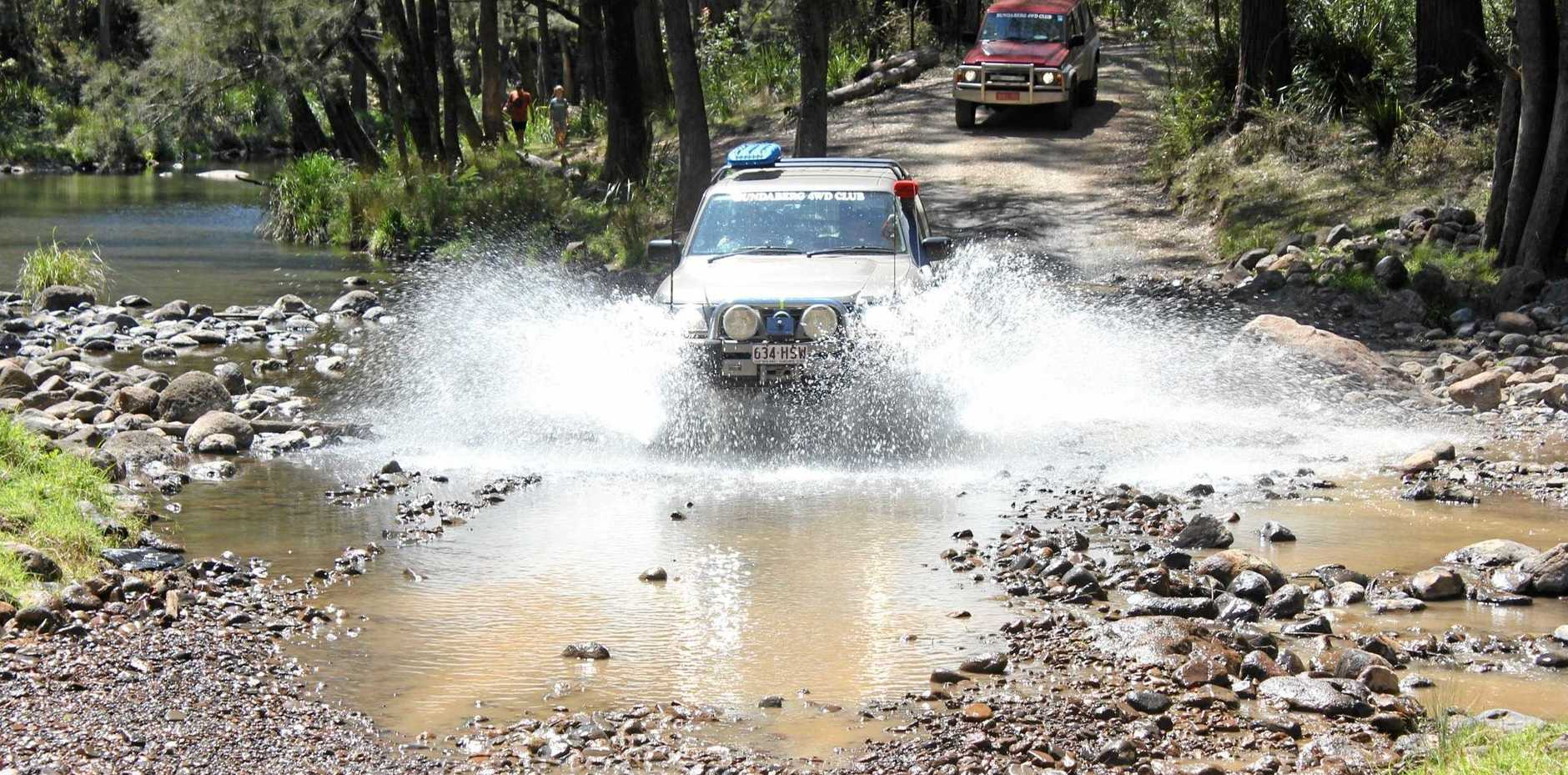 ROUGH RIDE: Condamine river crossings have been impacted by 4WD tourism.