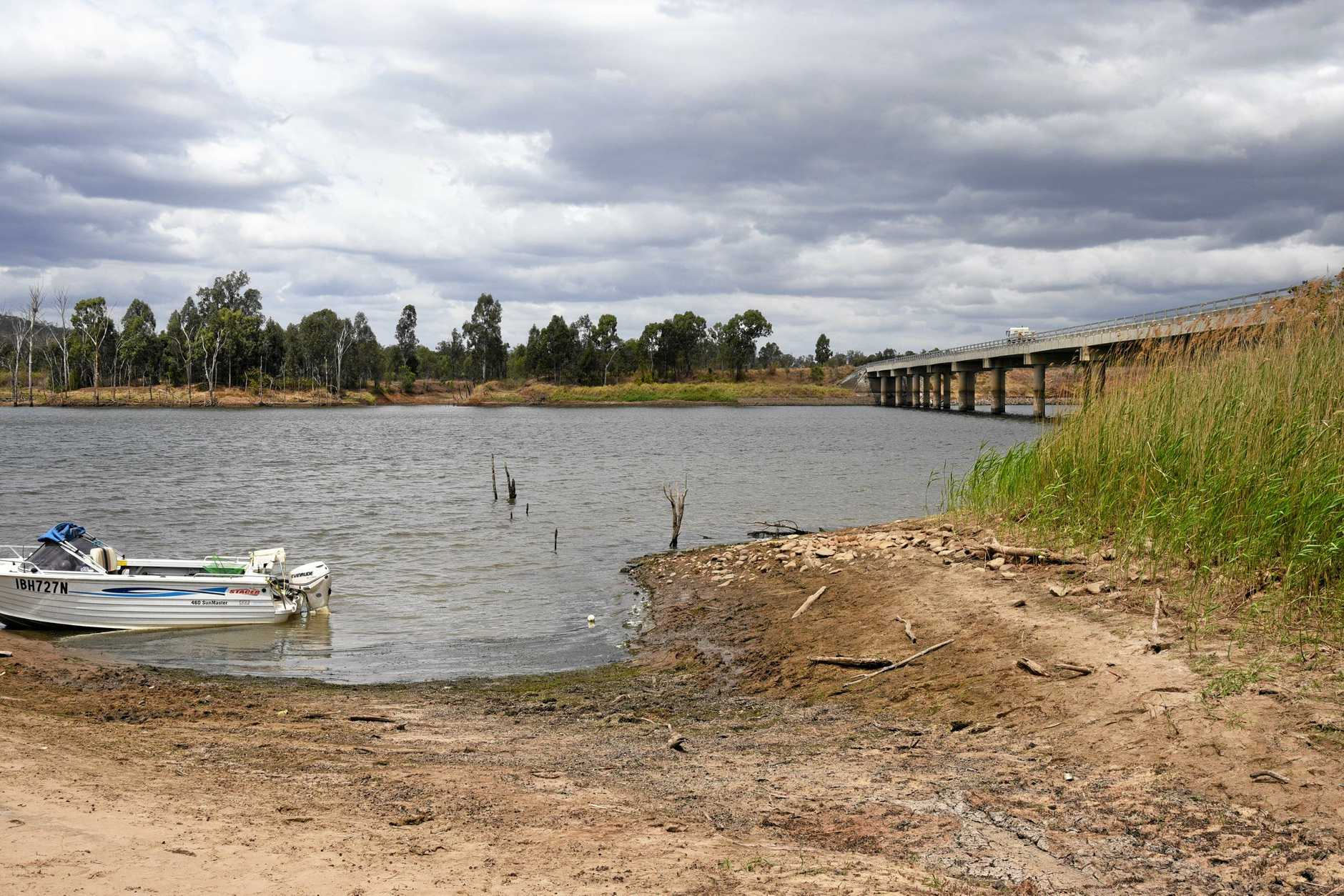 A small former bridge used before Paradise Dam was created is rumoured to lurk below the water, potentially creating a hazard if the water level drops too far.